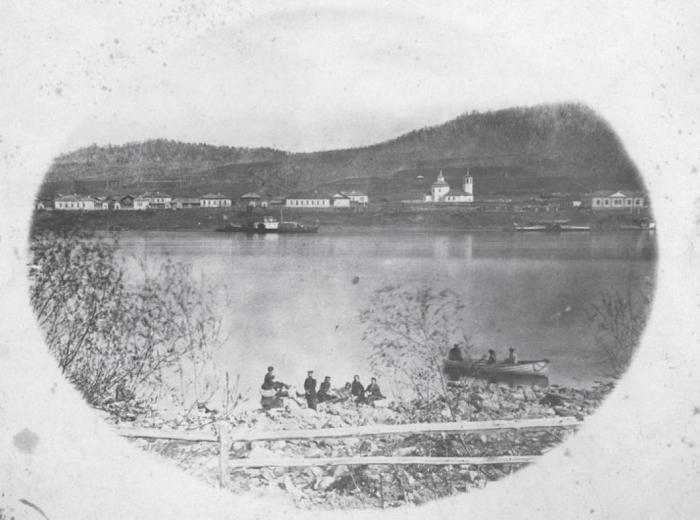 Город в Забайкальском крае России. Россия, 1880 годы.
