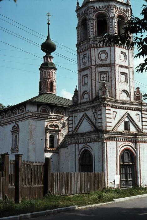 Церковь Святого Николая или Никольская церковь. СССР, Суздаль, 1975 год.