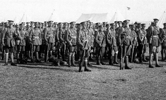 45-й батальон Королевских уэльских фузилёров возле Осиново.