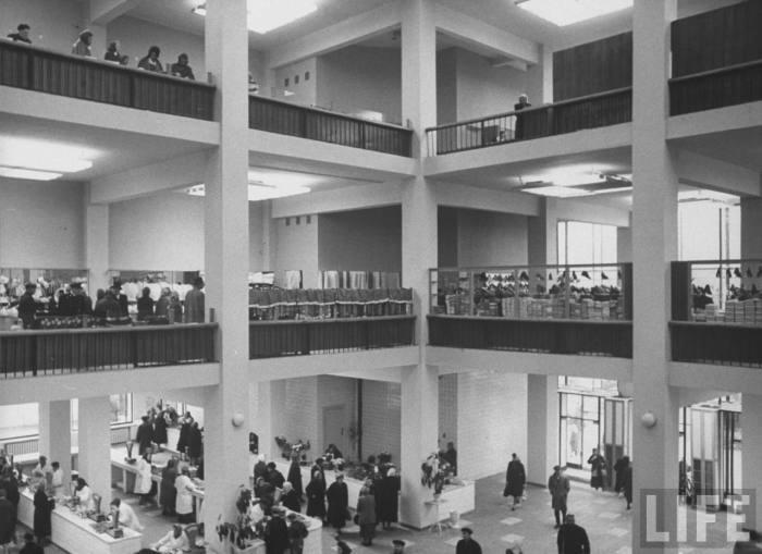 Центральный московский рынок. СССР, Москва, 1961 год.