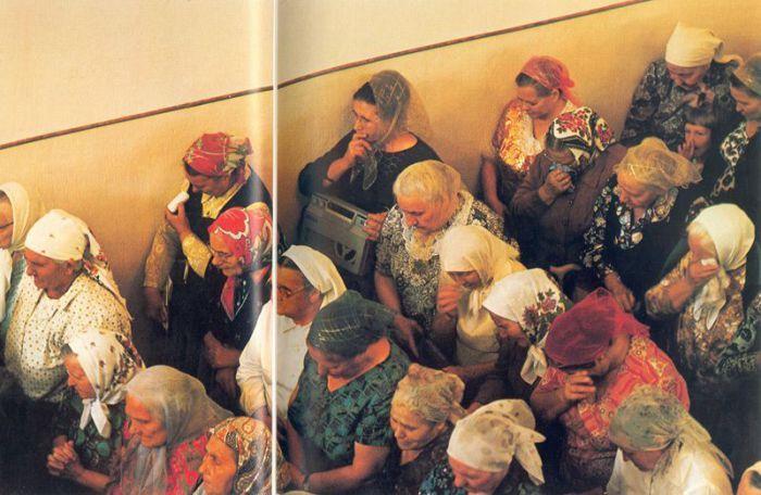 Одесские баптисты на служении в протестантской церкви. СССР, Одесса, 1970 год.