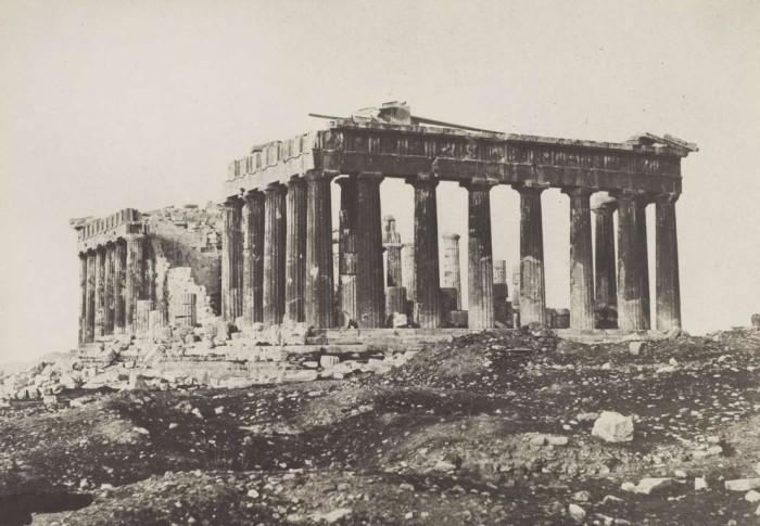 Парфенон в Акрополе. Афины, 1852 год.