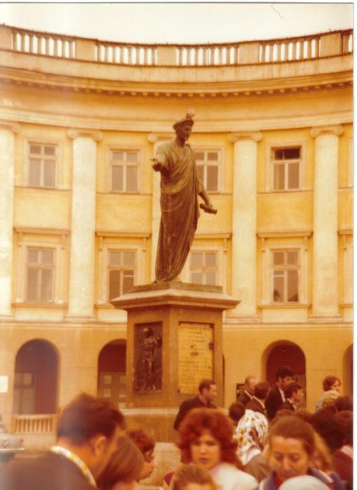Памятник герцогу де Ришельё. СССР, Одесса, 1976 год.