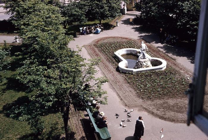 Фонтан в одном из парков. СССР, Харьков, 1959 год.