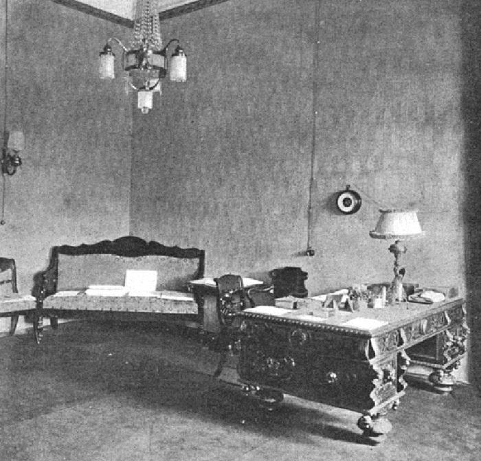 Кабинет царя в ставке. Россия, 1916 год.