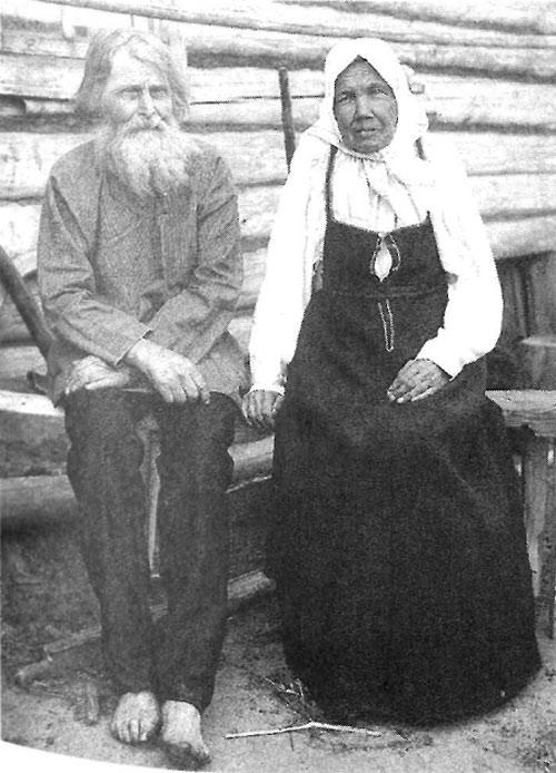 Пожилые крестьяне. Рязанская губерния, Касимовский уезд, 1910 год.