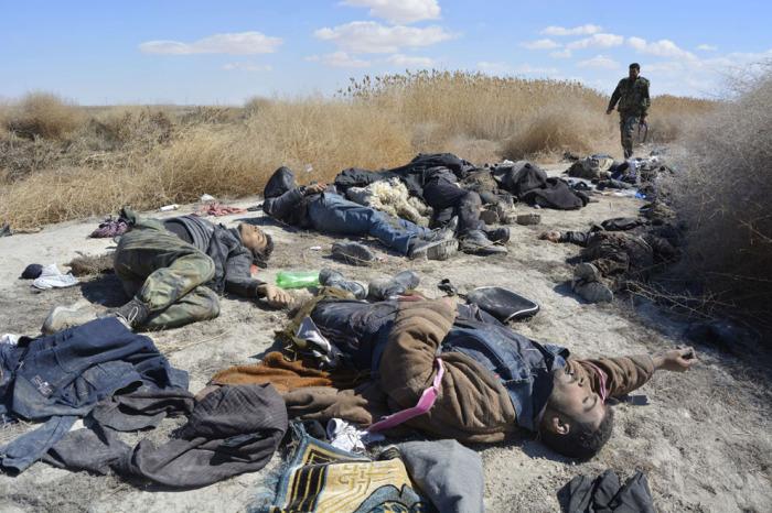 Повстанцы, убитые правительственными войсками в районе Отаиба.