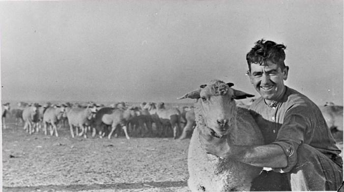 Пастух в одном из еврейский колхозов. СССР, Крым, 30-е годы 20 века.