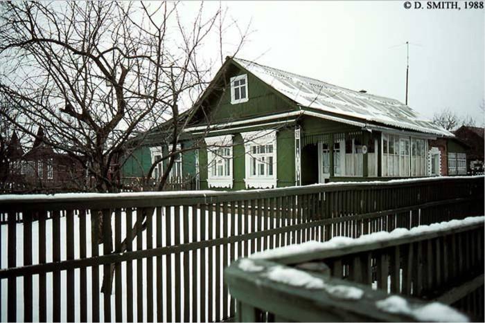 Зима в подмосковной деревне Тарасовка.