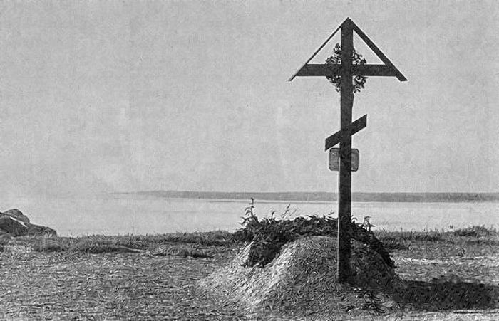 Могила Пржевальского на берегу Каракольского залива. Пржевальск, 1890 год.