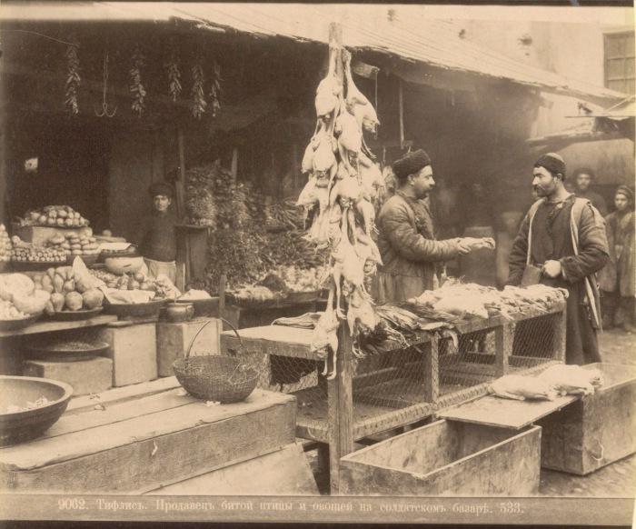 Продавец птицы и овощей. Тифлис, 1890 год.