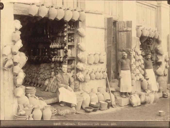 Две кувшинные лавки. Тифлис, 1890 год.