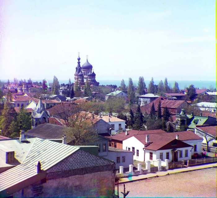 Вид на город Торжок с западной стороны.