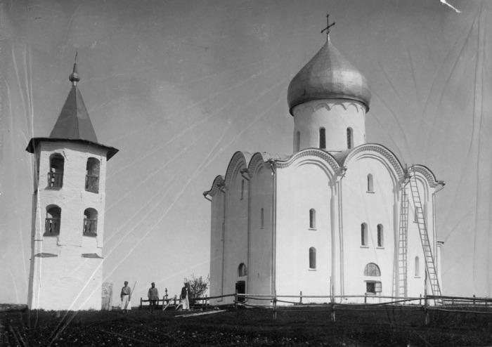 Преображенская церковь Спаса на Нередице. Россия, 1880 год.