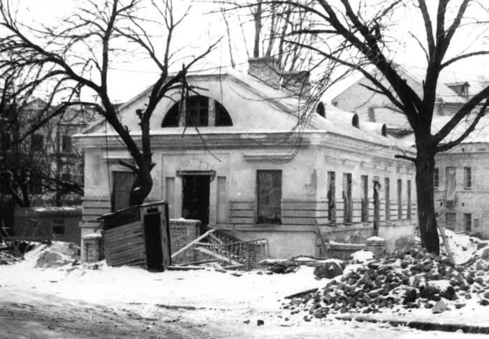 Улица Сагайдачного зимой. Киев, 1980 год.