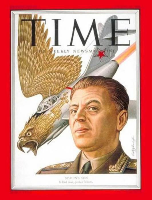 Василий Сталин на обложке Time в 1951 году.