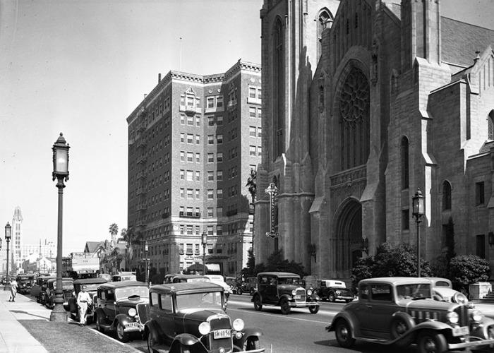 Католический храм в Лос-Анджелесе, 1936 год.
