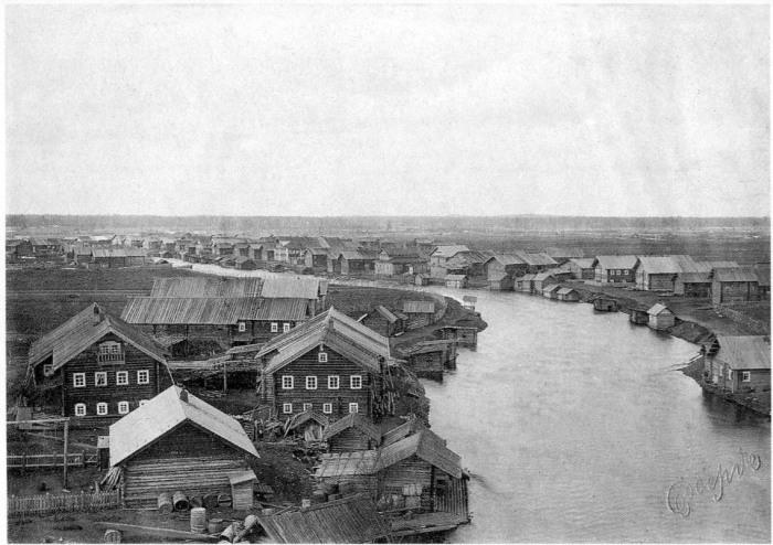 Деревня Шелекса. Архангельская губерния, Онежский уезд, 1910 год.