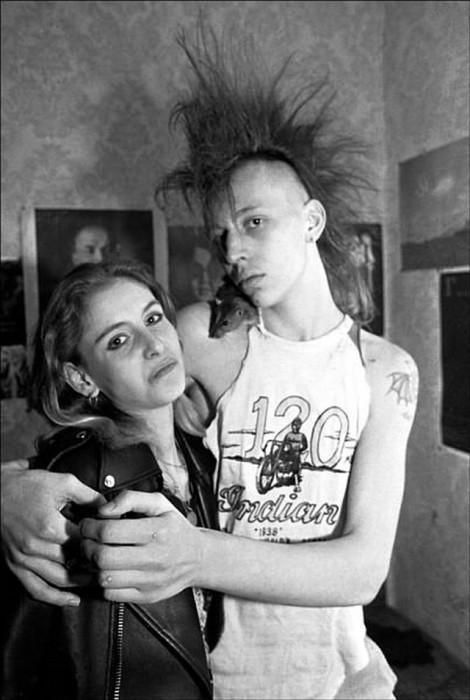 Представители молодёжного движения. СССР, Москва, 1990 год.