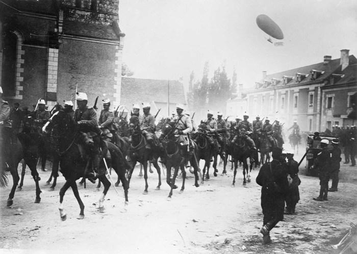 Французская кавалерия. Франция, 1914 год.