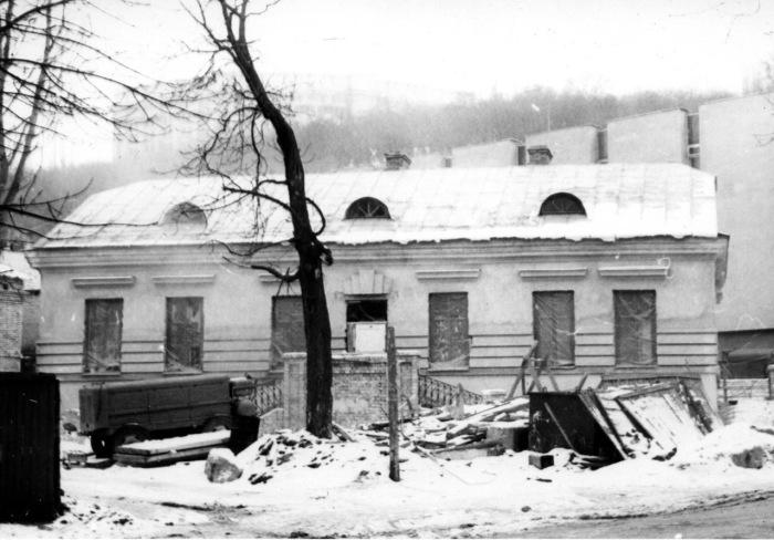 Зима на улице Сагайдачного. Киев, 1980 год.