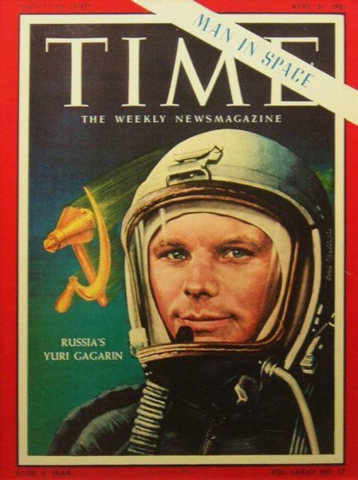 Юрий Гагарин на обложке Time в 1961 году.