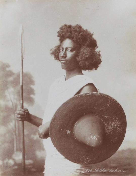Бишаринский солдат в 1870-е годы.