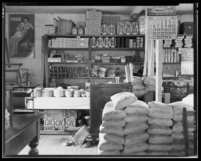 Типичный интерьер магазина в Алабаме.