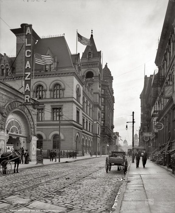 Здание почты в Бруклине. США, Нью-Йорк, 1906 год.