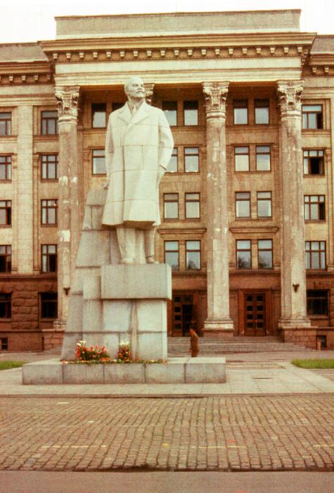 Статуя Ленина в городе Одессе.