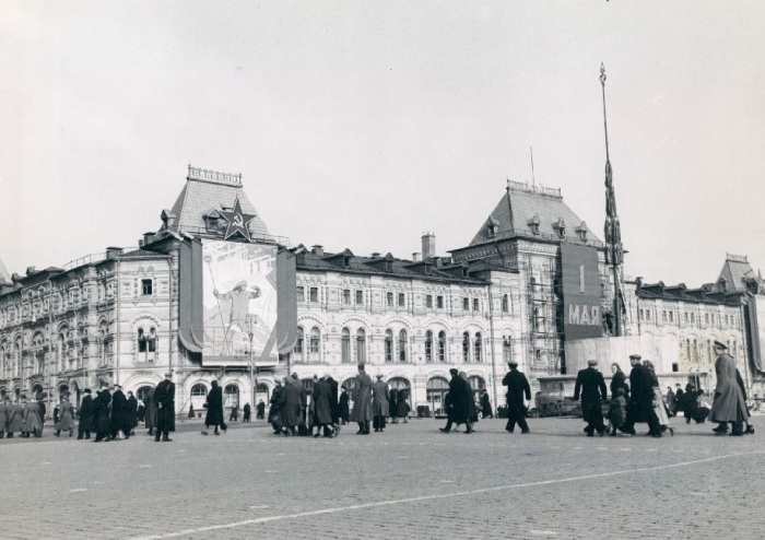 Красная площадь. Москва, 1958 год.