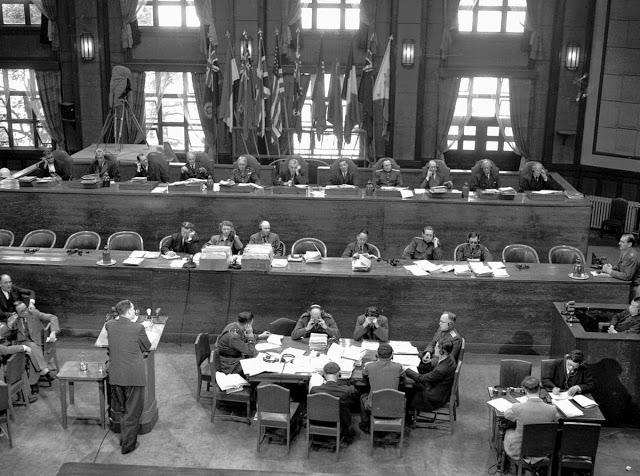 Заседание Международного военного трибунала для Дальнего Востока.
