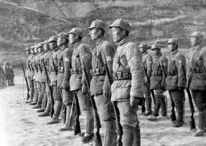 Солдаты китайской коммунистической 8-й армии.