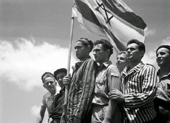 Евреи, спасшиеся из нацистского концлагеря Бухенвальд.