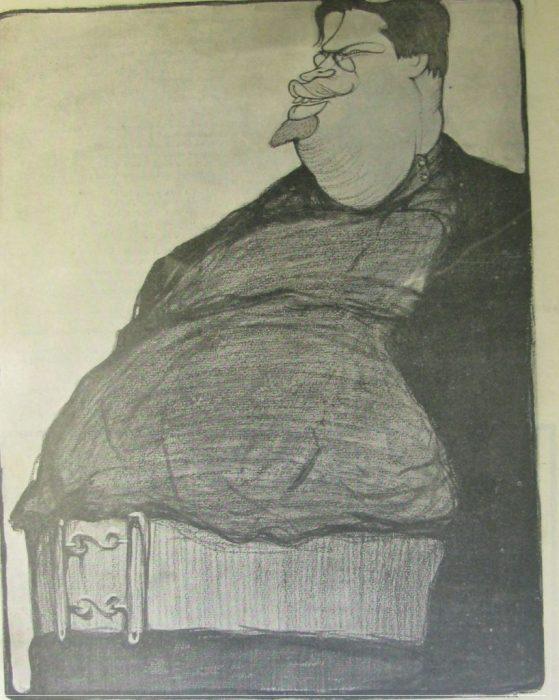 Карикатура на русского поэта и прозаика.