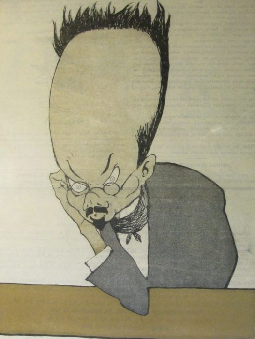 Карикатура на одного из наиболее ярких стилистов в русской литературе.