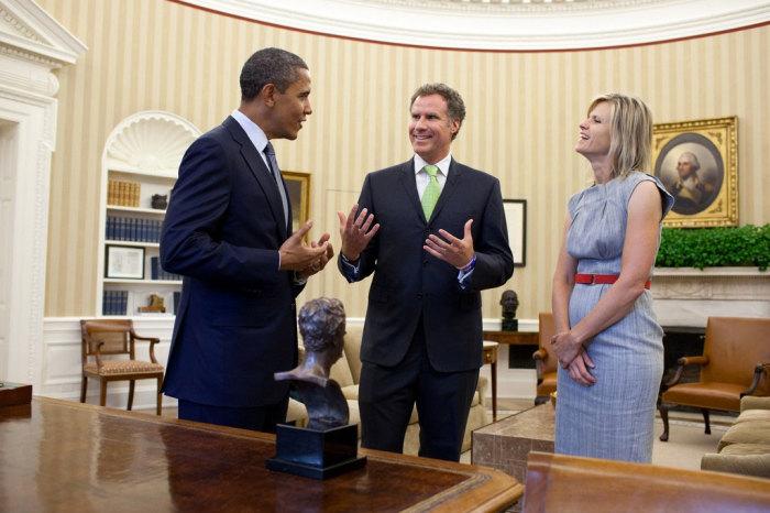 Неофициальная встреча Барак Обамы и Уилл Феррелл.
