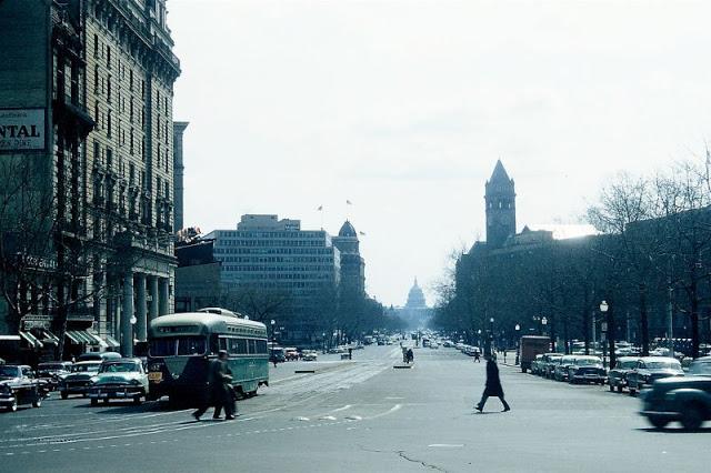 Город в округе Вашингтон, Пенсильвания, Соединённые Штаты Америки, 1956 год.