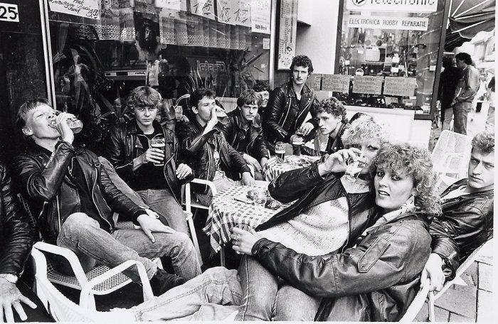 Празднование дня студента. Нидерланды, Валкенбурге, 1983 год.