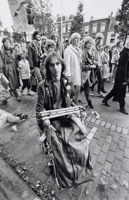 Мирный протест в Гааге против размещения крылатых ракет. Нидерланды, 1983 год.