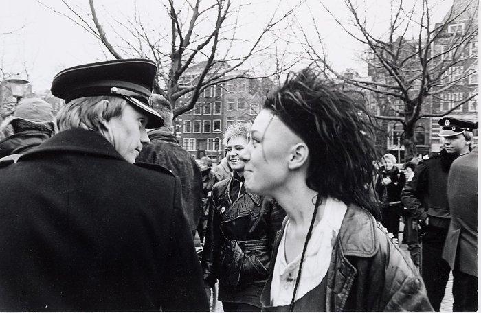 Демонстрация в центре Амстердама. Нидерланды, квартал Амстельвельд, 1984 год.