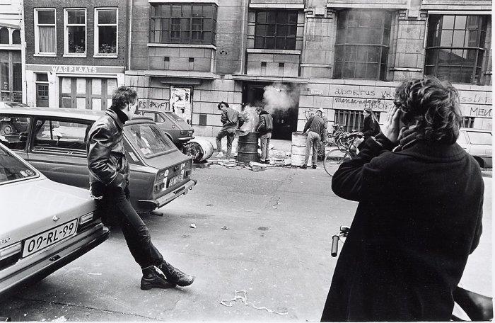 Беспорядки в центре города, 30 апреля 1984 года.