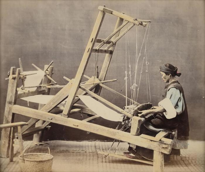 Ткацкий станок, 1865 год. Автор фотографии: Уильям Сондерс.