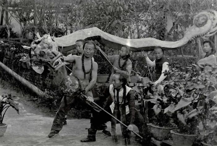 Китай, Фучжоу, 1880 год. Автор фотографии: Джордж Бертрам Уорби.