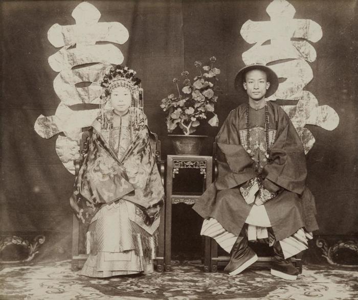Свадебная фотография, 1870-е годы. Автор фотографии: Томас Чайлд.