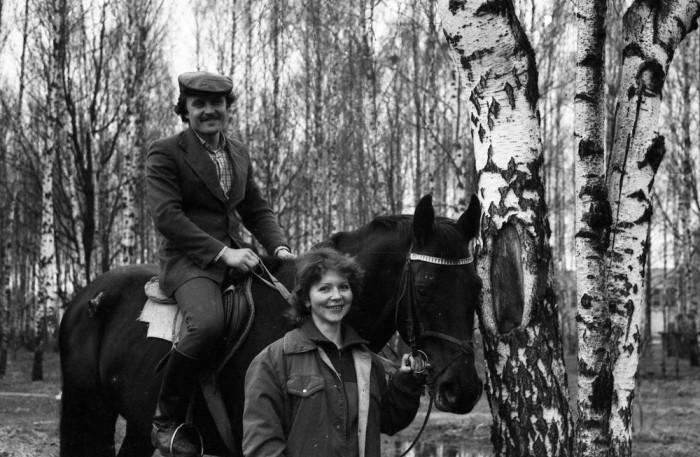 Катание на лошадях, 1985 год.