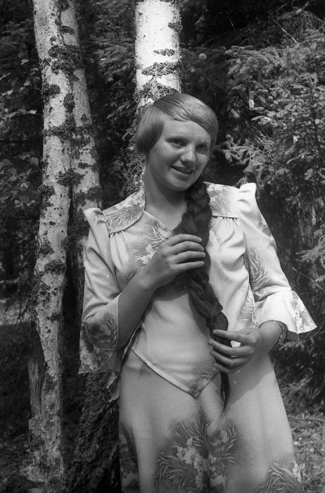 Девушка с косой, 1987 год.