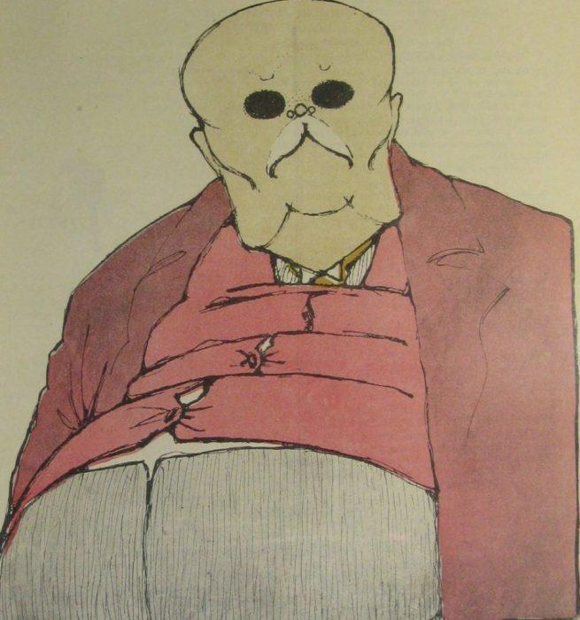 Карикатура на известного русского писателя и журналиста.