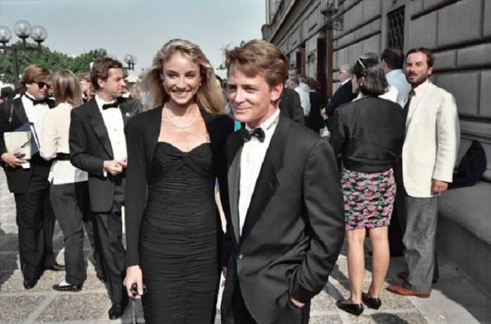 Актер Майкл Джей Фокс с супругой Трэйси Поллан.