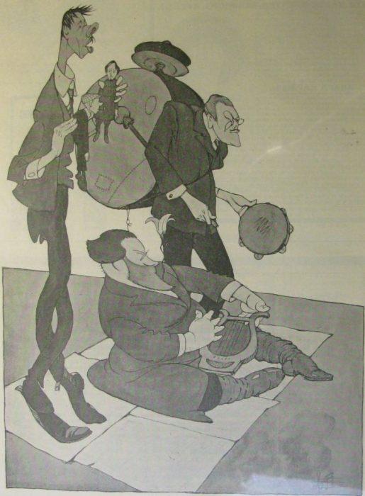 Карикатура на литературных критиков.